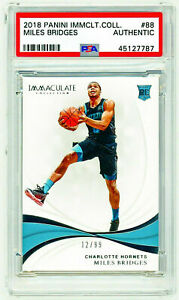MILES BRIDGES 2018 Panini Immaculate Collection #88 ROOKIE /99 RC PSA Authentic