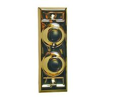Classic Wired Dual Push Button for Door Bell Multi Family, Brass Finish #BC203