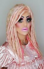 Pink Blonde Long Thick Dreadlock Braids Lace Front Wig | Neutral Lace