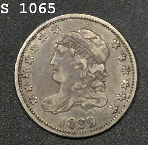 """1829 Capped Bust Half Dime """"XF"""" *Free S/H After 1st Item*"""