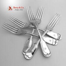 Fiddle Thread Dinner Forks 5 Beggs Smith Louisville Kentucky 1850 Coin Silver