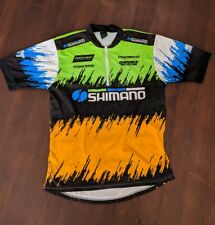Activa Vintage Shimano Mountain Bike Cycling Jersey Size M Neon 90's MTB
