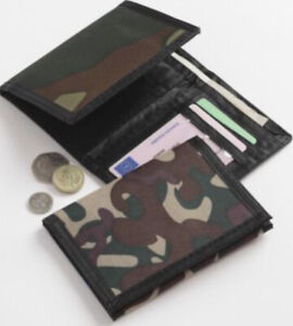 Men Boys Army Camouflage Canvas Wallet-Trifold With Various Compartments
