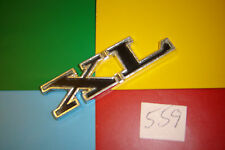 CLASSIC FORD CAPRI MK1 XL BLACK & SILVER ALUMINIUM REAR BADGE EMBLEM.