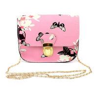 Ladies Floral Chain Bag Shoulder Tote Purse Handbags Crossbody For Messenger New
