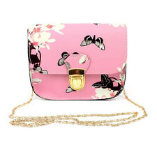NEW Women Ladies Floral Mini Chain Bag Shoulder Bag Tote Purse Handbag Messenger
