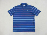 Callaway Polo Shirt Adult Large Blue Red Lightweight Golfer Golf Rugby Mens A37