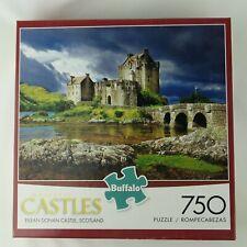 Buffalo Games MAJESTIC CASTLES Scotland Eilean Donan 750 Pc Jigsaw Puzzle 24x18