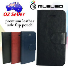 Genuine Musubo Leather cover case pouch with 4 card pouches for HTC ONE M8