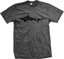 Bull Shark Silhouette Week Ocean Animal Mens T-shirt