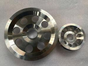 Underdrive pulley single belt for Honda Civic / CRX / Del Sol ZC D15 D16 2PCS