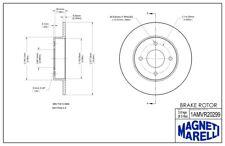 Disc Brake Rotor Rear Magneti Marelli 1AMVR20299 fits 2003 Nissan Sentra