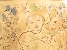 ORIGINAL LITHOGRAPH SIGNED MARCEL VERTES PEASANT BOY CIRCUS BLUE GREEN ABSTRACT