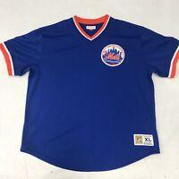 🌴Mitchell & Ness Mets Men's XL Blue Short Sleeve V-Neck Jersey🌴