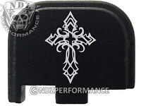 for Glock 42 ONLY Rear Slide Cover Plate .380 Cal G42 Black Tribal Cross