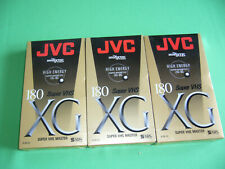 3 x SVHS  Super VHS Master XG JVC 180