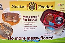 Neater Feeder Deluxe Feeding Bowls Dishes Pet Brands Bronze Small Dogs Cats