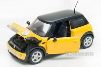 Mini Cooper in Yellow/Black, Welly 22075, scale 1:24, model adult boy gift