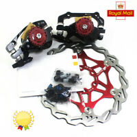 MTB Bicycle Mechanical Brake Disc Caliper Set 160/180/203mm Floating Disc Rotor