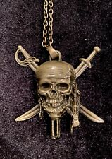 CharBling  Skull Collection Pirates Skull Men/Unisex- A True Buccaneer Necklace