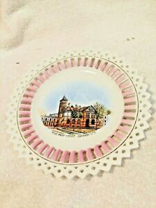 Beautiful Souvenir Plate-Post Office-Oshkosh,WI-Made In Germany