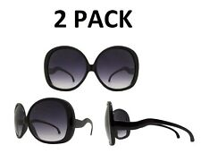 8474fed9784a Oversized Xlhuge Big Bold Black DESIGNER Women Retro Vintage Fashion  Sunglasses