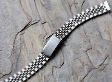 Vintage ladies Beads of Rice steel watch bracelet 11mm curved ends NOS 1960s/70s