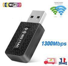 Dongle Wifi 1300 Mbps Clé Wi-Fi Adaptateur 802.11 AC/N/B/G Double Bande 5 GHz24