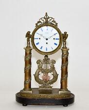 RARE 1865 Vienna GRAND SUONERIA sorprendente Bronzo Cherubino DECO Pilastro mantel clock