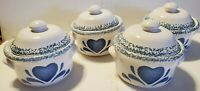 Ceramic Covered Dish - Blue Hearts Splash Mini Dutch Oven - French Onion Soup?