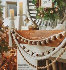 6' POM POM, KNIT or WOOD BEAD GARLAND Christmas RAZ Cozy NEW PreTTy FUN NEW