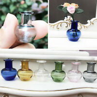 Glass 1: 12 Dollhouse Miniature Toy Porcelain Decoration Vase Pot 3C
