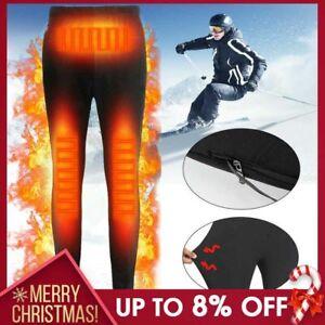 Electric USB Heated Warm Pants Winter Warmer Heating Elastic Trousers Men Women