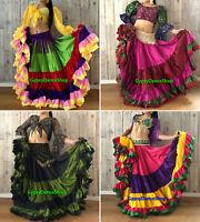 Belly Dance Gypsy ATS Tribal Fusion Fair 25 Yard Skirt / 32 Yard Skirt FREE SHIP