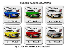 TOYOTA  CELICA  TA22  LT  COUPE       SET OF 6  RUBBER DRINK  COASTERS