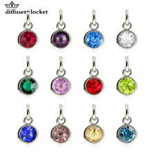 12pcs birthstone hang pendant charms fit necklace phone strip Free shipping