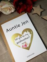 will you be my godmother card proposal card, godfather, godparents, custom, GP1