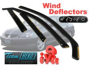 Climair Negro Teñido viento desviadores de Mitsubishi Pajero 5 puertas 2007 En Adelante Delantero