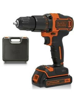 Black & Decker 18 V Lithium-Ion Cordless Drill Driver & Battery Only
