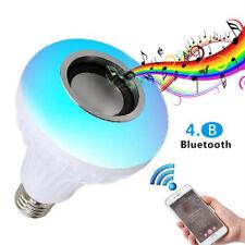 Bluetooth Control Smart Music Light Audio Speaker LED RGB Color Bulb Lamps E27