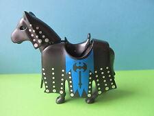 PLaymobil Pferd  Turnier Ritterburg blau schwarz 6000 4865 3666 3269 4866 3268
