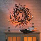 Black Bat Halloween Wreath (17 Inch Diameter) Halloween Decorations