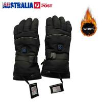 Electric Heated Warm Gloves 3 Control Level Battery Power Hand Winter Waterproof