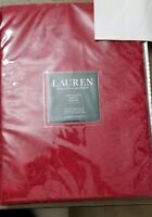 Ralph Lauren Cotton Blend Paisley Damask Tablecloth 70 x 84 Red NEW