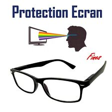 LUNETTES PROTECTION ECRAN ANTI - LUMIÈRE BLEUE LED REPOS UV400 RECTANGLE DESIGN
