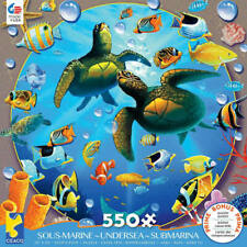 Ceaco 550 Piece Jigsaw Puzzle Undersea Turtles Tropical Fish Coral Poster New