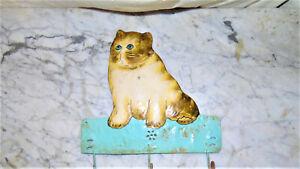 60's 70'Cat Wall Hook Art Decorative Hanger Sculpture Hooks Key Coats BagsHolder