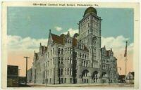 Boys Central High School Street View Philadelphia Pennsylvania Vintage Postcard