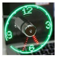 LED USB Fan Clock Mini Flexible Time With LED Light Cooling Gadget