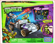 Mega Bloks Teen Mutant Ninja Turtles DONNIE TURTLE RACER + Casey Slashing Action